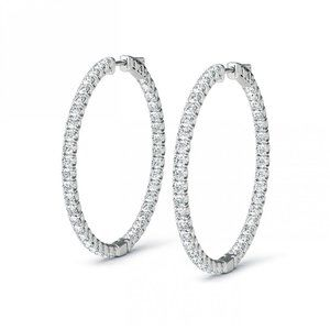 Jewelry - Sparkling brilliant cut 4.80 ct diamonds Hoop earr
